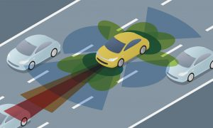 autonomous car driving
